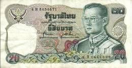 BILLET BANQUE  THAÏLANDE 20 BAHTS - Thailand