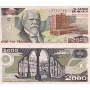 BILLET   MEXICO 2000 PESOS - Mexique