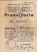 6326. Lp  Libretto Provvisorio Di Guida 1949 Argenta Ferrara Con Foto E Marche Patente - Documentos Antiguos