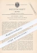 Original Patent - Max Raschke , Berlin , 1883 , Kinderwagen U. Wiege | Kinderbett , Kinder , Möbel , Korb , Korbwaren !! - Historische Documenten