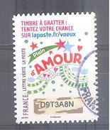 France Autoadhésif Oblitéré N°1341 (Timbre De Voeux à Gratter) (cachet Rond) - France