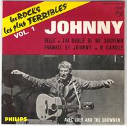 45T EP Johnny Hallyday  Les Rocks Les Plus Terribles Vol. 1 Philips 434.950 BE Parfait état - 45 T - Maxi-Single