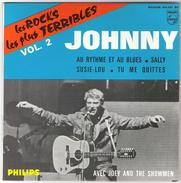45T EP Johnny Hallyday  Les Rocks Les Plus Terribles Vol. 2 Philips 434.951 BE Parfait état - 45 Toeren - Maxi-Single