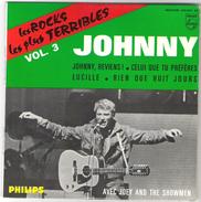 45T EP Johnny Hallyday  Les Rocks Les Plus Terribles Vol. 3 Philips 434.952 BE Parfait état - 45 T - Maxi-Single