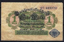 Allemagne - Germany 12-08-1914 Billet 1 Mark Pick 52 Very Fine (4) - [ 2] 1871-1918 : Impero Tedesco