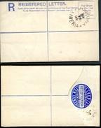 LIBERIA Registered Envelope #2 MONROVIA Vf 1891 - Liberia