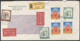 B1421 Österreich Brief Eilsendung Einschreiben BRD 1976 MEF Mi.1497 Stempel Innsbruck Bahnpoststempel München-Stuttgart - 1945-.... 2ème République