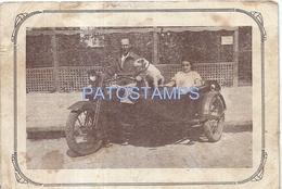70177 ARGENTINA CZECH REPUBLIC MOTORCICLE HARLEY DAVIDSON 1200 WITH SIDECAR NO POSTAL TYPE POSTCARD - Fotografía