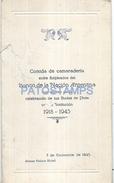 70186 ARGENTINA BS AS ALVEAR PALACE HOTEL BANK BANCO DE LA NACION BODAS DE PLATA 1918 - 1943 MENU NO POSTAL POSTCARD - Menükarten