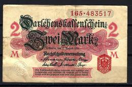 Allemagne - Germany 12-08-1914 Billet 2 Mark Pick 53 Very Fine (2) - [ 2] 1871-1918 : Impero Tedesco