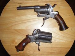 LEFAUCHEUX Poivrière + Revolver 7 Mm Broche Belge à Restaurer - Armes Neutralisées
