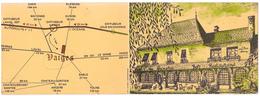 VAIGES  53   ( HOTEL DU COMMERCE  )  CARTE DE VISITE PUBLICITAIRE FORMAT FERME   9 X 13 C M - Cartes De Visite
