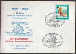 Germany Bremerhaven 1976 / Ships / Stamps / Philately - Schiffe