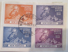 New Hebrides  - (o) - 1949  # 62/65 - Usados