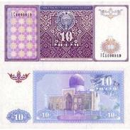 BILLET OUBEKISTAN  10 SUM - Ouzbékistan