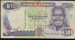 Billet Banque   ZAMBIE 100 KWACHA - Zambia