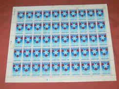 FEUILLET DE 50 TIMBRES NEUFS /  1968  GRENOBLE X JEUX OLYMPIQUE D HIVER - Blocs & Feuillets