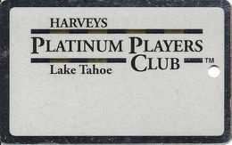 Harvey's Casino - Lake Tahoe, NV - BLANK Platinum Players Club Slot Card With No Text Over Mag Stripe - Casino Cards
