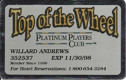 Harvey's Casino - Lake Tahoe, NV - Top Of The Wheel Platinum Players Club - Casino Cards