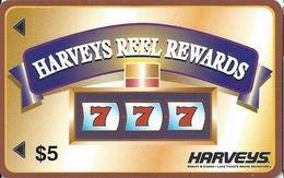 Harvey's Casino Great Adventure - Lake Tahoe, NV - $5 Reel Rewards - Large 3.2 Inch Banner - Slot Card - Casino Cards