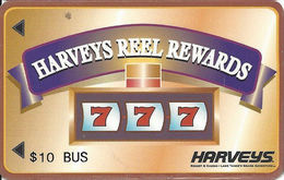 Harvey's Casino Great Adventure - Lake Tahoe, NV - $10 Bus Reel Rewards - Large 3.2 Inch Banner - Slot Card - Casino Cards