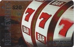 Harvey's Casino - Lake Tahoe, NV - $20 Brite Crinkled Metallic Reel Rewards Slot Card - Casino Cards