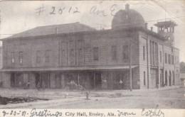 Ensley Alabama, City Hall, Street Scene Auto, C1900s Vintage Postcard - United States