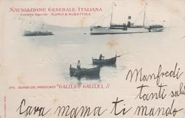 """Cartolina  - Navigazione Generale Italiana - Dal Bordo Del Piroscafo """"Galileo Galilei - Viaggiata - Postkaarten"""