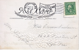 U.S. POSTAL  HISTORY  STREET  CAR  R.P.O. 1915  VALENTINE   CARD - United States