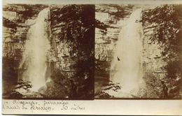 CARTE PHOTO STEREOSCOPIQUE(CASCADE DU HERISSON) - Stereoscope Cards