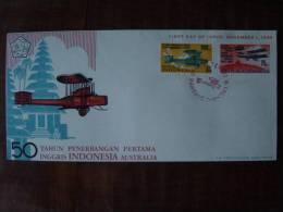 INDONESIA INDONESIË 1969 FDC ZBL 666-67 BLANCO BLANK AIRPLANES AVIATION  !!!!!!SPECIAL PRICE!!!!! - Indonésie