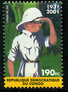 Congo 2001 : émission Conjointe Avec La Belgique ** Tintin - République Démocratique Du Congo (1997 -...)
