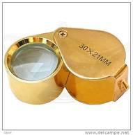 Loupe Gold 30x21mm - High Quality - Best Seller!!! - Pinzetten, Lupen, Mikroskope