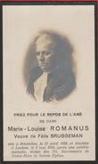 Faire-parts Mortuaire-Marie-Louise Romanus, Née à Bruxelles En 1858 Et Décédée à Laeken En 1916 - Décès