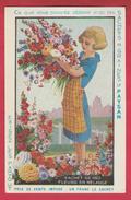 """Carte Publicitaire .... Les Graines Pour Fleurs """" Le Paysan """"  ( Voir Verso ) - Reclame"""