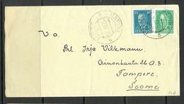 Estland Estonia 1938 Letter RÄPINA To Finland Tampere - Estonia