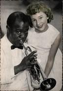 ! Ansichtskarte Louis Armstrong Mit Trompete / Gabriele, Musiker, Music - Musik Und Musikanten