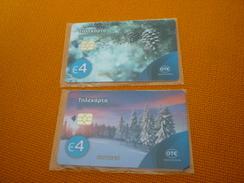 Greece Phonecard S0131 S0132 S131 S132 12/16 2.200 Christmas & Santa (mint) - Grecia