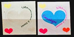 France 1230 1231 Autoadhésifs Coeurs De Courrèges Neuf ** TB MNH Sin Charnela - Feste
