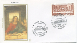 ITALIA - FDC  FILAGRANO GOLD 1998 - LEONARDO DA VINCI - IL CENACOLO - ARTE ANNULLO SPECIALE MILANO - FDC