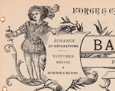 Facture 1907 BAURES Fils / Forge Carosserie / Fabricant Voiture / 32 Simorre / Gers - Altri
