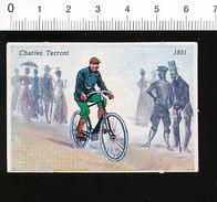 Charles Terront 1891 / Vélo Bicyclette Ancienne Coureur Cycliste Cyclisme Cycle Vélocipède Ancien  IM51P4-1 - Sin Clasificación