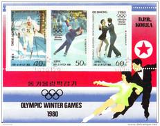 1895a DPR Korea 1979  Winter Olympics Games, Lake Placid Olimpiadi Saveliev Averina Pakhomova Gorshkov - Pattinaggio Artistico