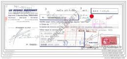 75 11.219 PARIS SEINE 1973 LES POTERIES PARISIENNES 5 Rues Des Haies à CHAPUIS - DEGUEURCE De LYON - Bills Of Exchange