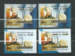 Honduras 2002 Airmail - The 10th Anniversary Of Banco Del Pais, Tegucigalpa.MNH - Honduras