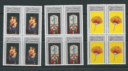 New Zealand Mnh Sg990  Set Blks 4 - Blocks & Sheetlets