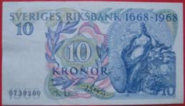 10 Kronen / Kronor  1968 (WPM 56a) - Schweden