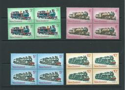 New Zealand Mnh Sg1003 Commemorations Set Blks 4 - Blocks & Sheetlets