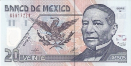 MEXIQUE   20 Pesos   17/5/2001   P. 116b   UNC - Mexico