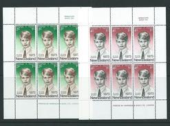 New Zealand Mnh Sgms1003 Commemorations Health Miniature Sheets Royalty - Blocks & Sheetlets